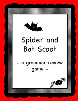 Grammar Review Scoot (Spiders and Bats)