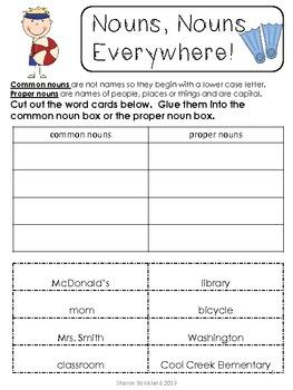 Grammar Review-Second Grade Common Core Aligned