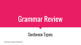 Grammar Review - Sentence Types