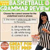 Grammar Review Test Prep | 4th & 5th Grade Basketball Theme