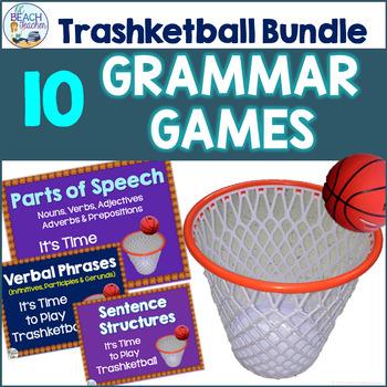 Grammar and Language Review Trashketball Bundle (10 +1 Games)