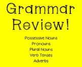 Grammar Review Worksheet!