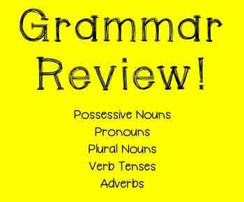 Grammar Review Worksheet!