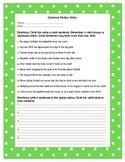 Grammar Review Worksheet - Verbs