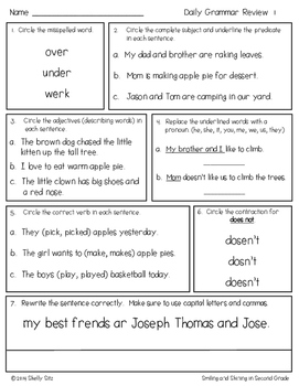 Grammar for Second Grade