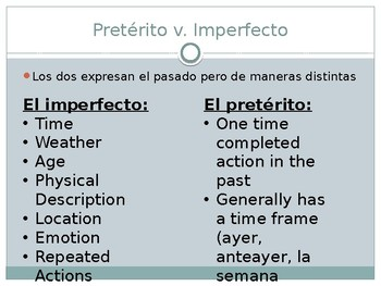 Grammar Review for Spanish 4/5
