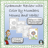 Grammar Review with Color by Numbers Nouns and Verbs!