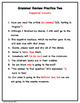 Grammar Reviews SOL 8th Grade Writing Test
