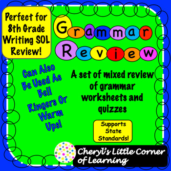 Grammar Reviews Sol 8th Grade Writing Test Tpt