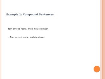 Grammar Revise / Edit Lesson: Compound Sentences