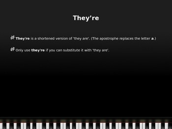 Grammar Revise / Edit Lesson: They're, Their, & There