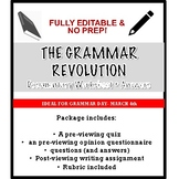 Grammar Revolution Documentary Worksheet (with answers & editable)- Grammar Day