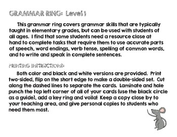 Grammar Ring:  Level 1