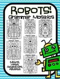 Grammar Robots! Parts of Speech Grammar Mosaic- Color By Part of Speech