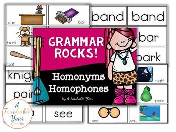 Homophones & Homonyms- Grammar Pack