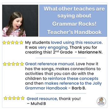 Grammar Rocks! Teacher's Handbook for 31 grammar lessons | Grammar is Jolly Fun!