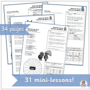 Grammar Songs! Teacher's Handbook that Complements Jolly Grammar (SASSOON)