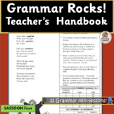 Grammar Practice and Parts of Speech supports Jolly Grammar (SASSOON Font)