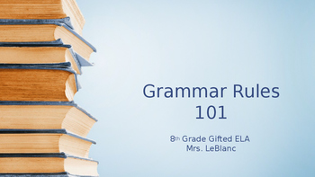 Grammar Rules 101 PowerPoint
