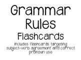 Grammar Rules Flashcards