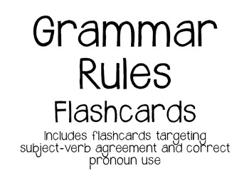 Grammar Rules Flashcards