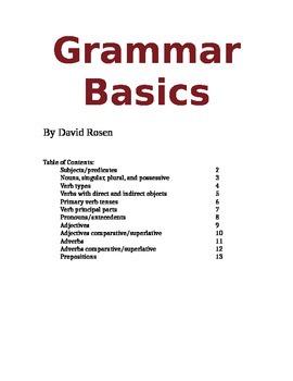 Grammar Rules Handouts