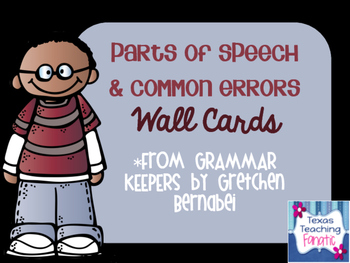 Grammar Rules Wall Cards/Anchor Charts