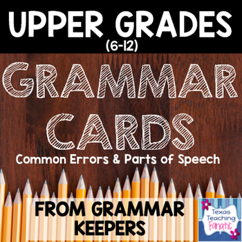 Grammar Rules Wall Cards/Anchor Charts for Middle School or High School