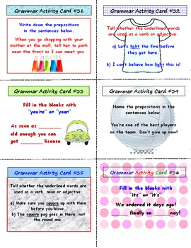 Grammar SCOOT Game (Cards, Grid, Lesson Plan Included)