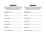 Grammar Scategories Game Card for Nouns