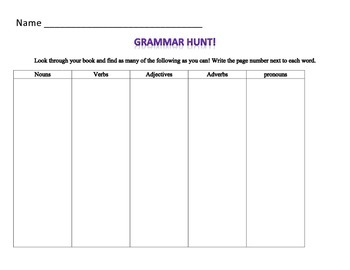 Grammar Scavenger Hunt