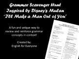 "Grammar Scavenger Hunt | Mulan's ""I'll Make a Man Out of You"""