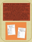 Grammar Scavenger Hunt and Review: Interjections