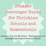 Grammar Scavenger Hunts | Christian Songs and Scripture