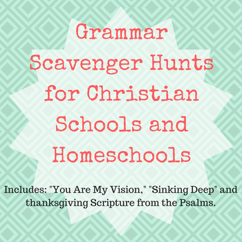 Grammar Scavenger Hunts | Christian Songs and Scripture