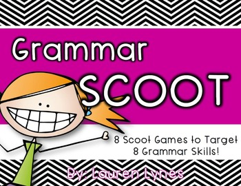 Grammar Scoot {8 Scoot Games to Target 8 Grammar Skills!}