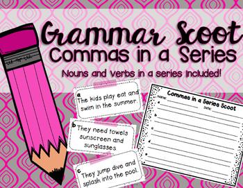 Grammar Scoot - Commas in a Series