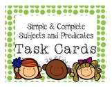 Grammar Scoot Game: Simple & Complete Subject/Predicate Task Cards
