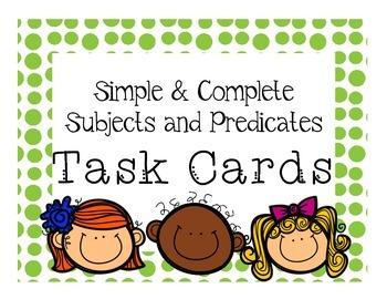 Grammar Scoot Game: Simple & Complete Subject/Predicate Ta