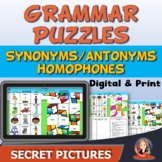 Grammar Secret Picture Puzzles Digital and Print for Dista