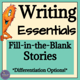 Sentence Structure Writing Activities using Phrases and Clauses, Digital & Print