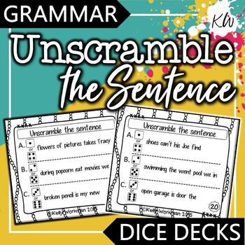 Sentence Structure - Unscramble the Sentence - Interactive