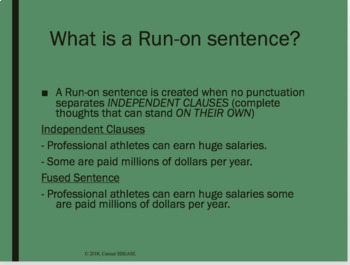 Grammar - Avoiding Fragments, Run-ons, and Comma Splices PPT