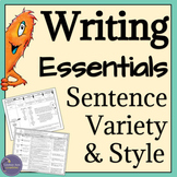 ELA Grammar & Sentence Structure Activities, Reference Sheet