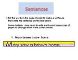 Grammar-- Sentence order
