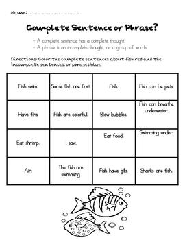 Grammar - Sentences