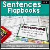 Parts of Speech | Grammar | 4 Types of Sentences | Flap book & Assessment