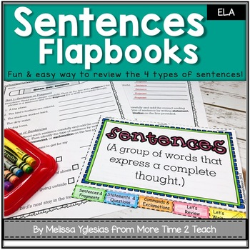 Grammar: Sentences Flapbook {FREEBIE}
