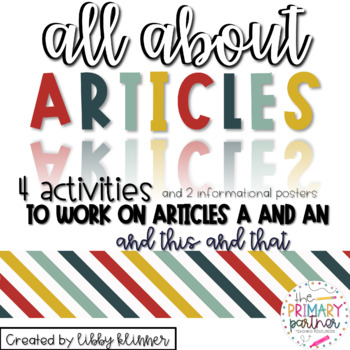 Grammar Series: All About Articles