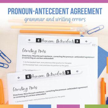 Pronoun Antecedents Task Cards